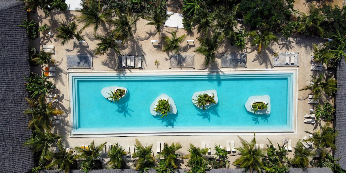 Fun Beach back pool aerial