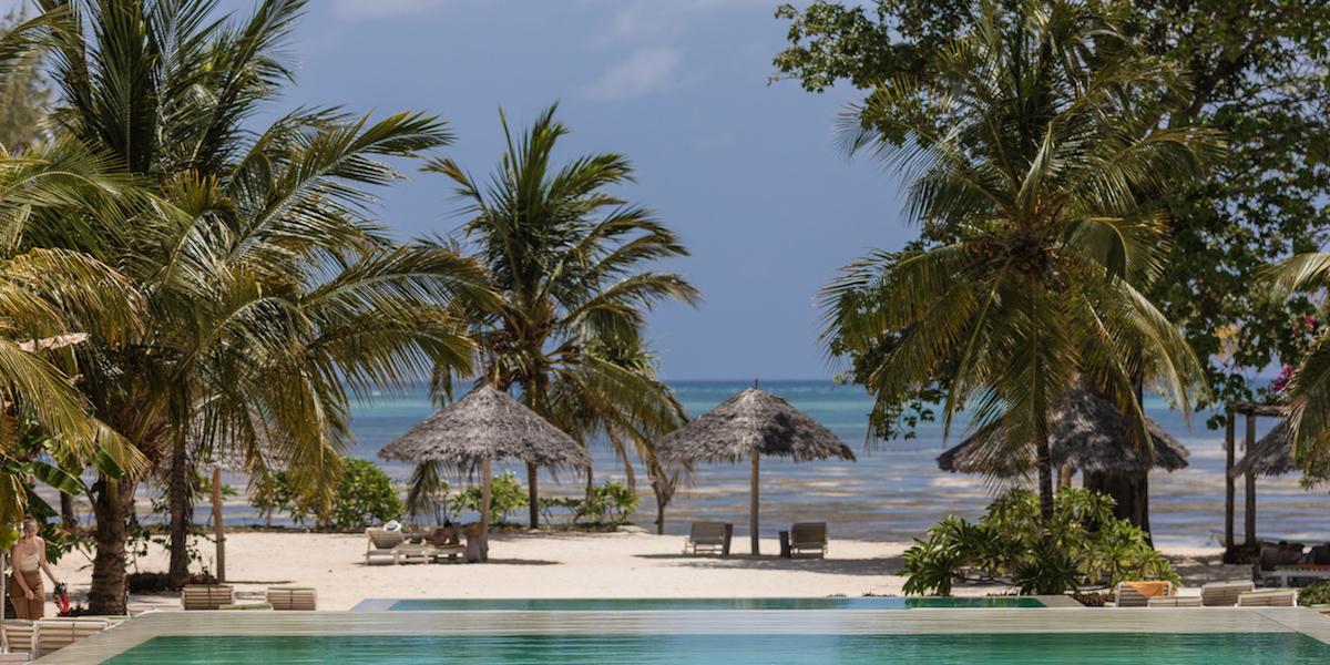Fun Beach Hotel private beach area