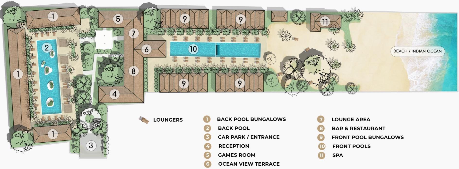 Fun Beach Hotel Site Map