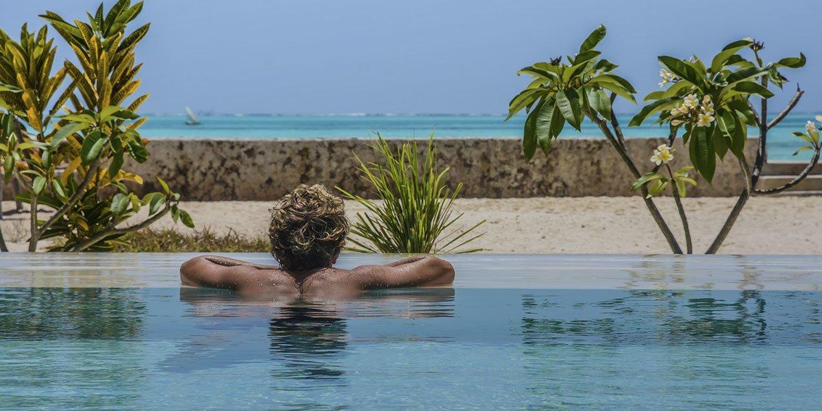Nur Beach Resort pool and ocean view