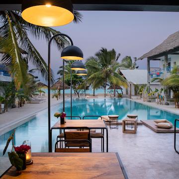 Casa Beach Hotel pool terrace view
