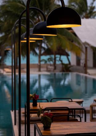 Casa Beach Hotel Pool and Restaurant View