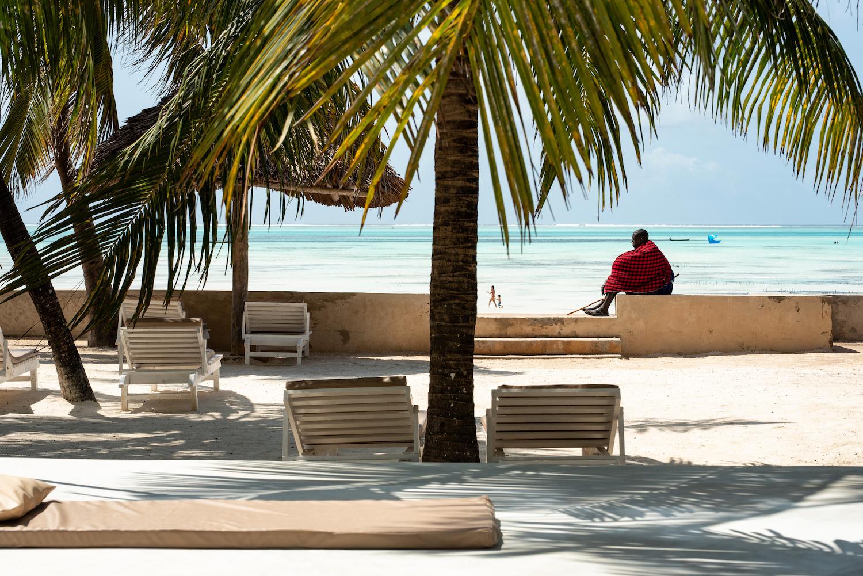 Casa Beach Hotel private beach area