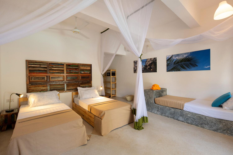 Casa Beach Hotel first floor room twin beds