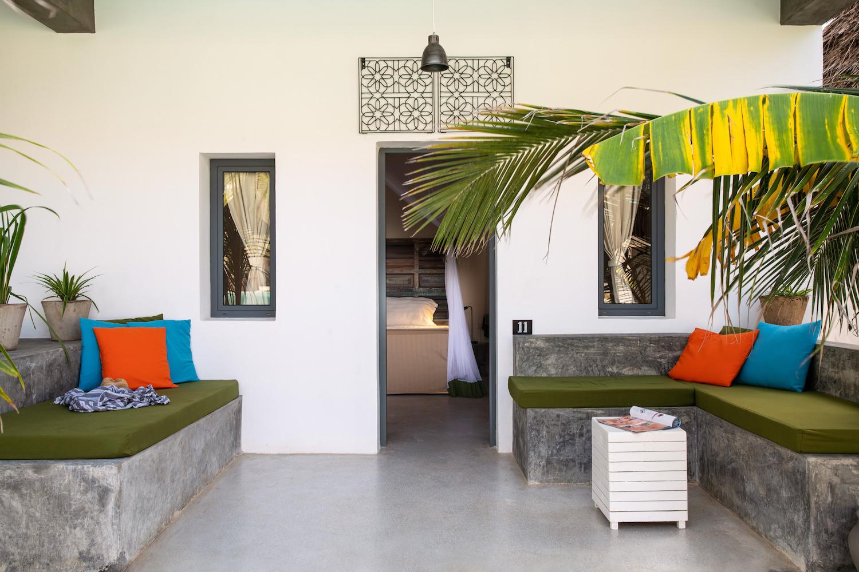 Casa Beach Hotel ground floor room veranda