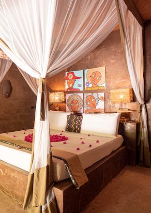 Mwezi Boutique Resort Moon Bungalow Bedroom