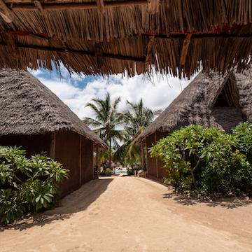 Mwezi Boutique Resort moon bungalow veranda view