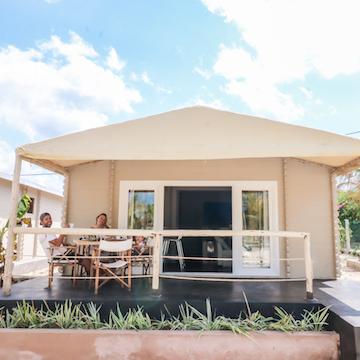 La Luna Suite Apartments guests on veranda