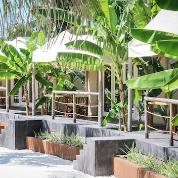 La Luna Suite Apartments veranda and foliage