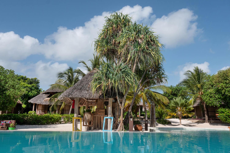 Mwezi Boutique Resort pool and pool bar