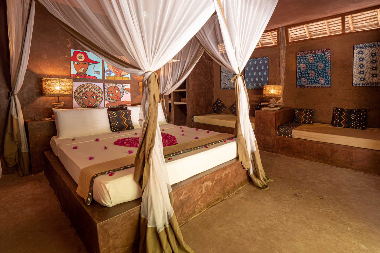 Mwezi Boutique Resort pool bungalow bedroom