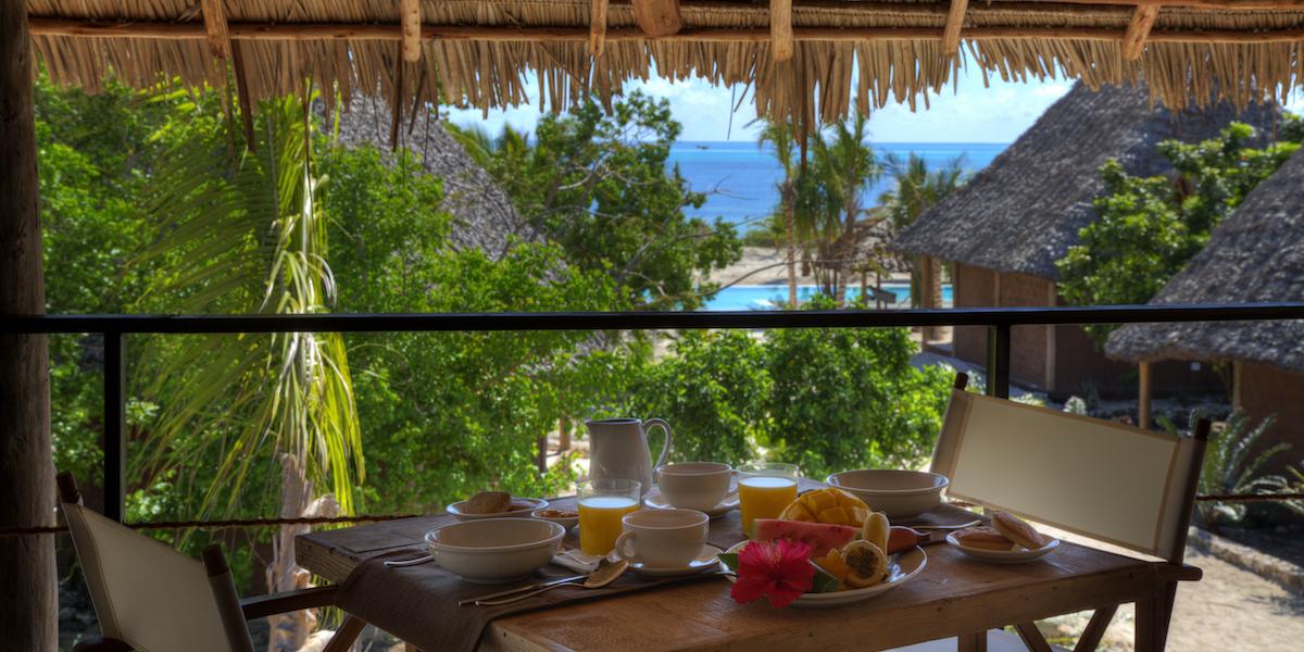 Mwezi Boutique Resort restaurant terrace