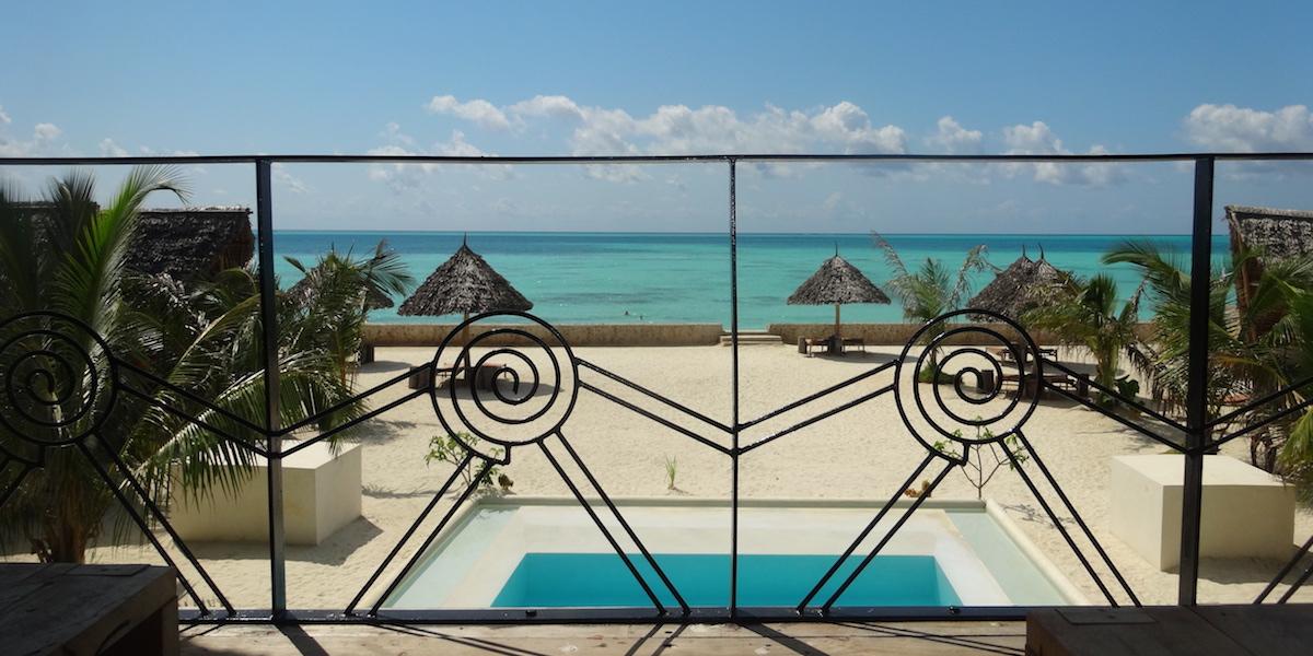 Nur Beach Resort ocean view terrace