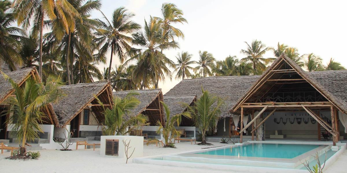Nur Beach Resort pool and bungalow view
