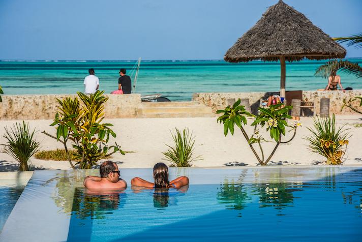 Nur Beach Resort pool view and ocean view