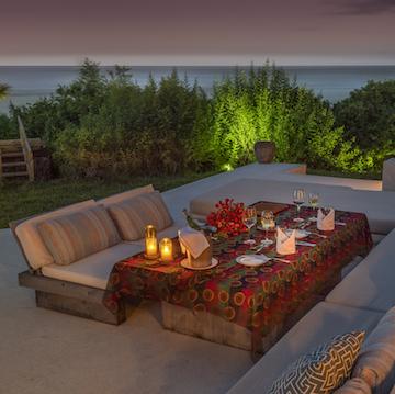 Qambani Luxury Resort terrace evening