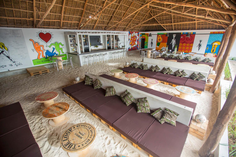The Loop Beach Resort lounge, bar and restaurant area