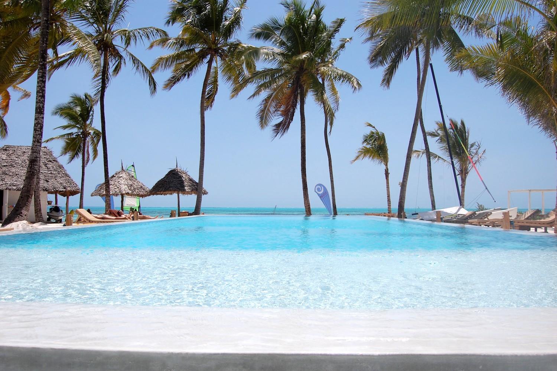 The Loop Beach Resort pool and beach view