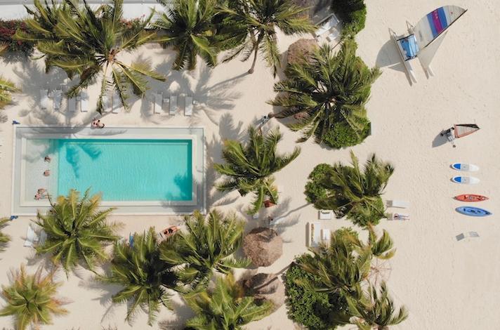 The Loop Beach Resort aerial view