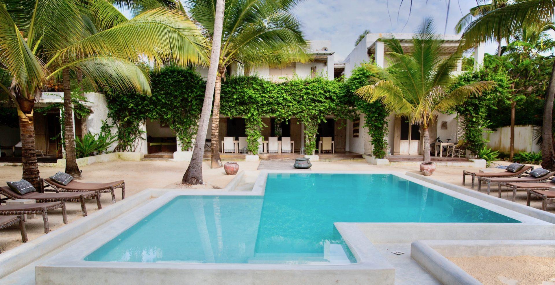 Uzuri Villa pool and veranda view