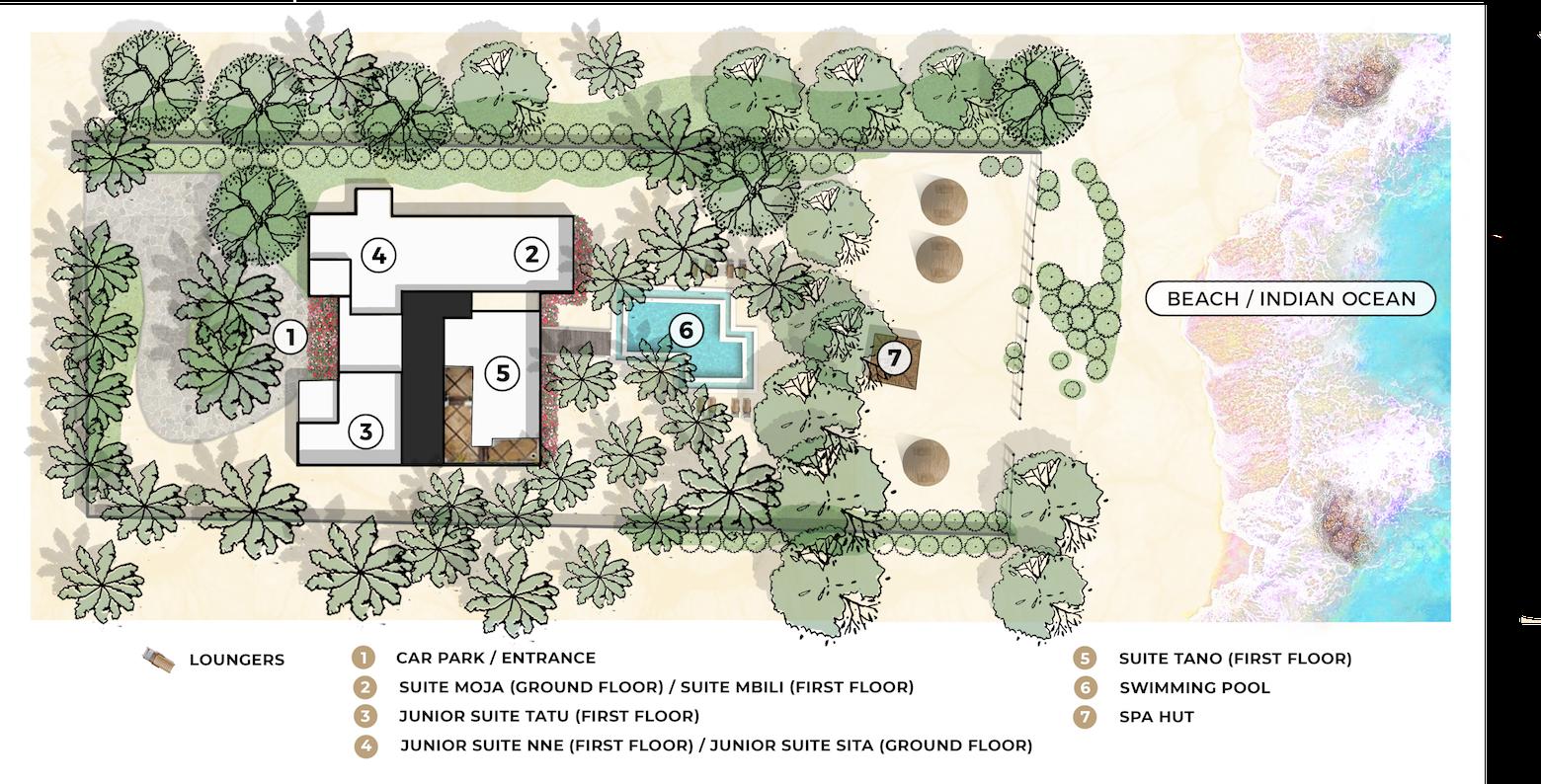 Uzuri Villa site map