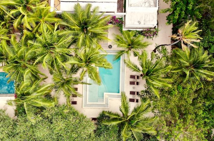 Uzuri Villa pool aerial view