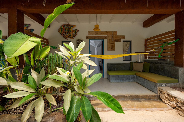 Fun Beach back room veranda