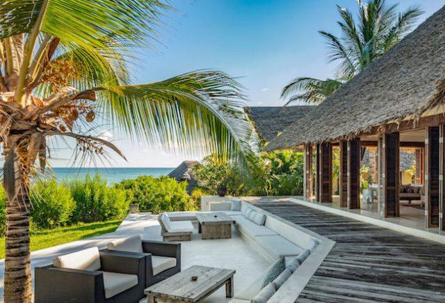 Qambani Luxury resort terrace and lounge view