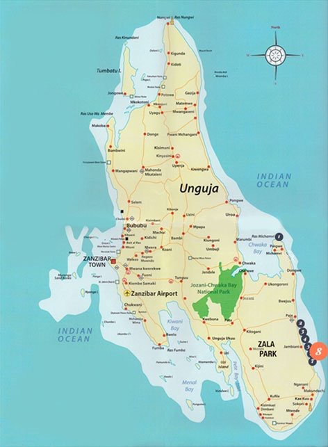 Zanzibar Pro Kite Location